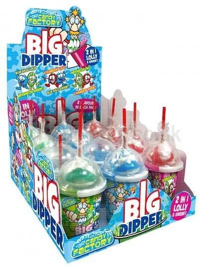 Lollipops Big Dipper 2 in 1 lolly 47g 12 per Box