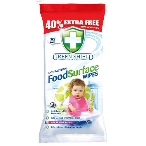 Anti-bacterial Food Surface Wipes 70 ct X 12