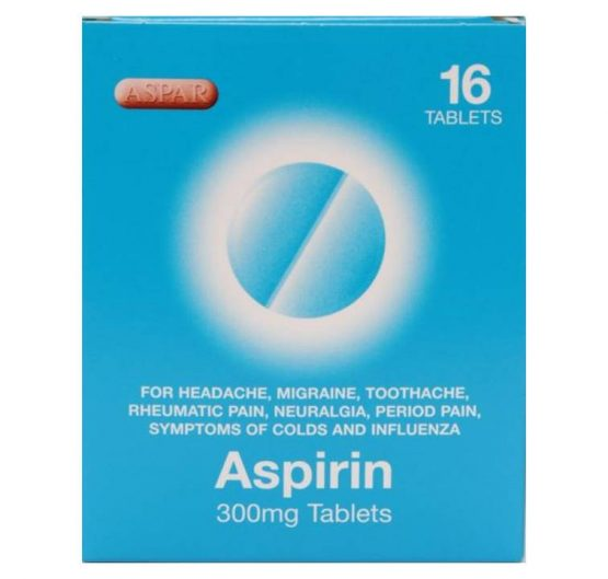 Medicine Asprin Tablets Aspar 300mg 16 Blister 12/Box