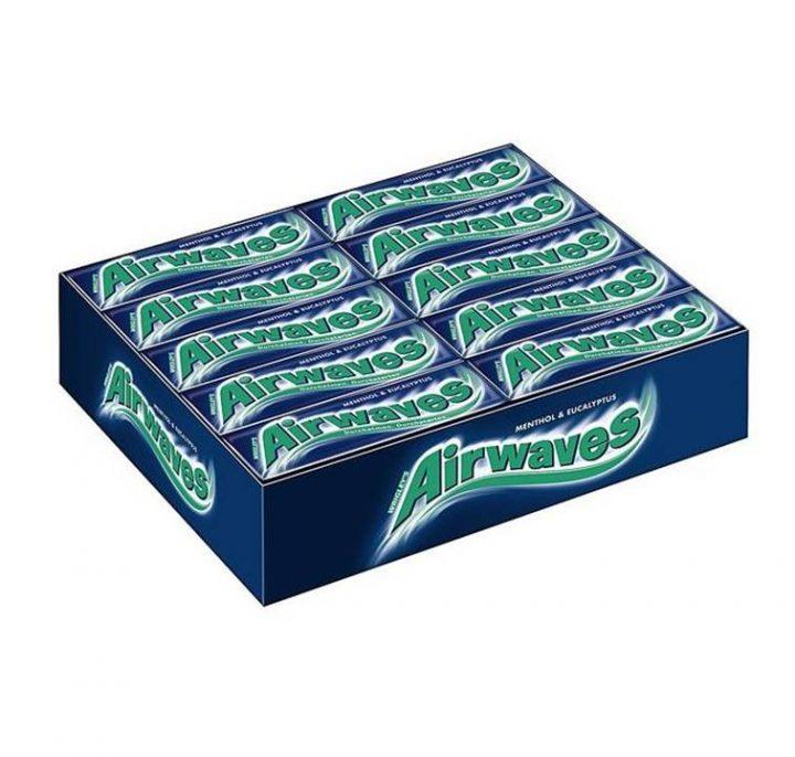 Chewing Gum Wrigley's Airwaves Menthol & Eucalyptus 10 pellets 30/Box