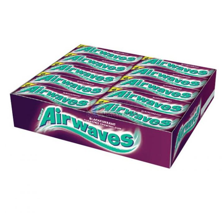 Chewing Gum Wrigley's Airwaves Blackcurrant 10 pellets 30/Box