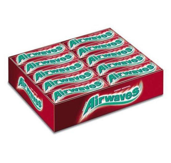 Chewing Gum Wrigley's Airwaves Cherry Menthol 10 pellets 30/Box