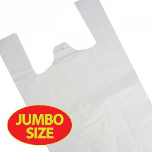 Bags MD Vest Carrier Bag White Jumbo Eagle Brand 100 X 10 (1000)