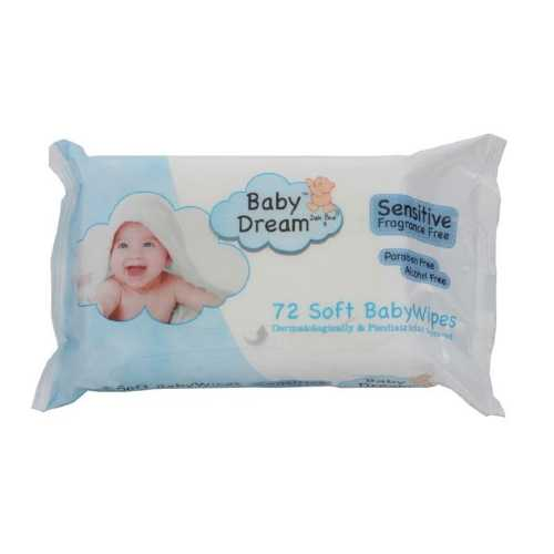 Baby Wipes Baby Dream 72 Sheets
