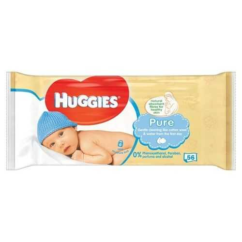 Baby Wipes Huggies Pure 56 Sheets