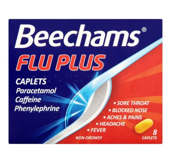 Medicine Beechams® Flu Plus Caplets 8 ct 6/Box