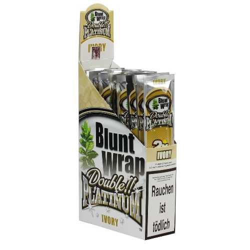 Blunt Wraps Double Platinum Ivory 2-Pack 25/Box