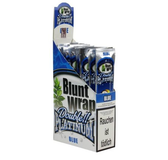 Blunt Wraps Double Platinum Blue 2-Pack 25/Box