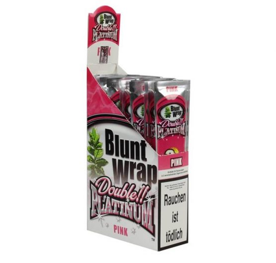Blunt Wraps Double Platinum Pink 2-Pack 25/Box
