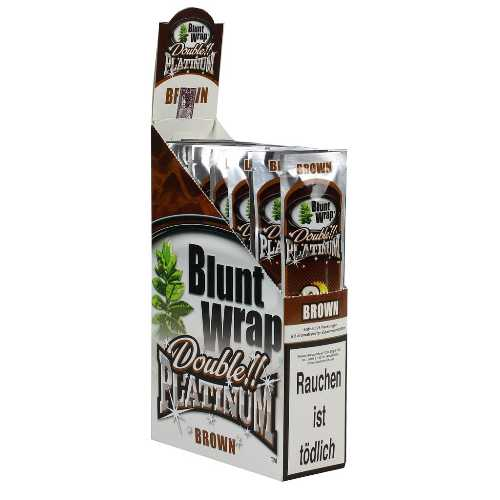 Blunt Wraps Double Platinum Brown 2-Pack 25/Box