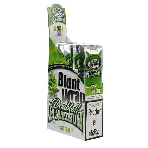 Blunt Wraps Double Platinum Green 2-Pack 25/Box