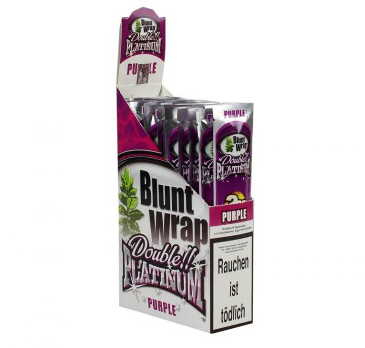 Blunt Wraps Double Platinum Purple 2-Pack 25/Box