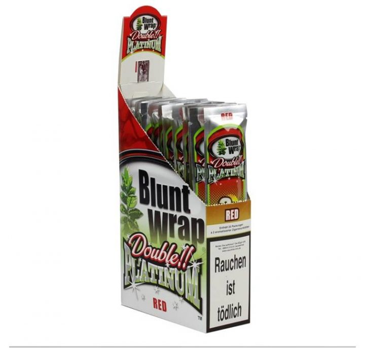 Blunt Wraps Double Platinum Red 2-Pack 25/Box
