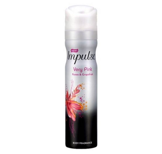 Body Spray Impulse Very Pink Deo Aerosol 75ml 6/Box
