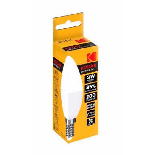 KODAK LED CANDLE BULB E14 3W=25W Warm Glow