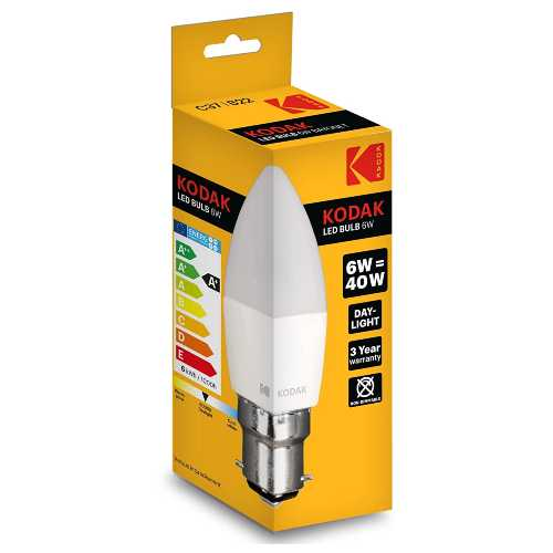 Kodak Bulb LED Candle B22/C37 6W (40 W) 480 Lumen