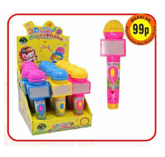 Candy 3D Light Microphone With Music