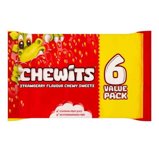 Candy Chewits Strawberry 6 Value Pack X 12