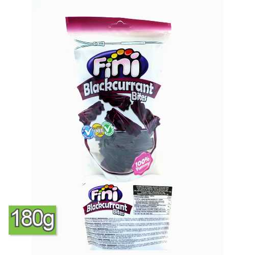 Fini Blackcurrant Bites Candy 180 g Bag