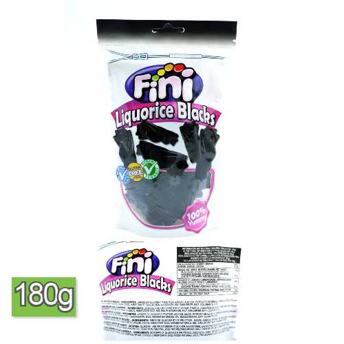 Fini Liquorice Blacks Candy 180 g Bag X 10