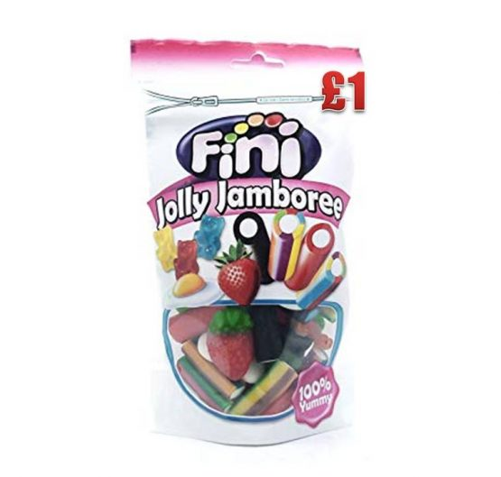 Candy Bag Fini Jolly Jamboree £1 150g 10 per Box