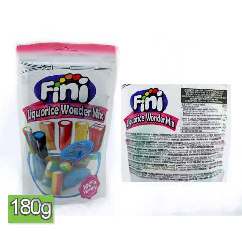 Fini Liquorice Wonder Mix Candy 180 g Bag X 16