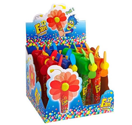 Candy Fan Fruit Flavour Candy With Pull Action Fan 16g 12/Box