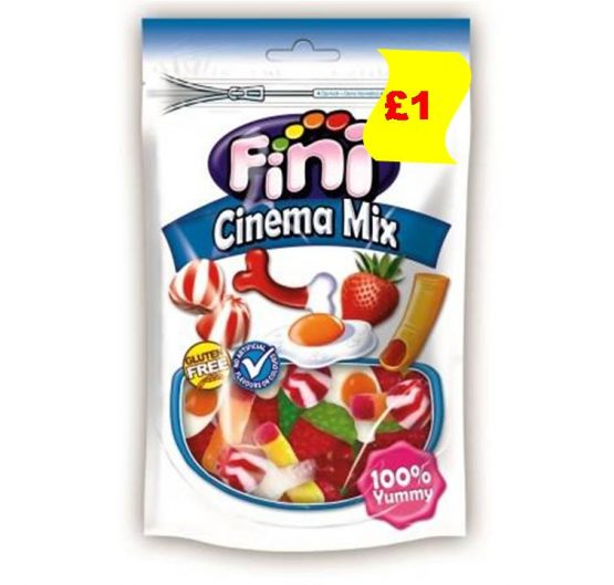 Candy Bag Fini Cinema Mix £1 150g 10 per Box
