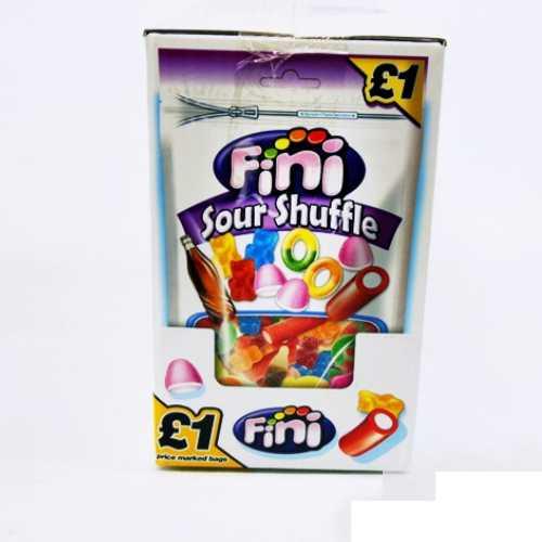 Candy Bag Fini Sour Shuffle £1 150g 10 per Box