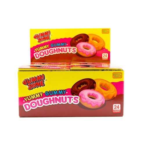 Candy Yummy Gummy Dougnuts 23g X 24 By Gummi Zone
