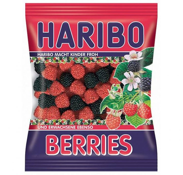 Haribo Berries 80 g Bag 24 Per Box