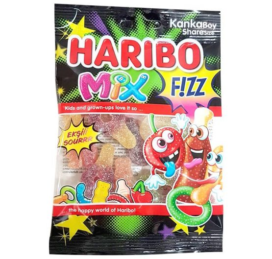 Haribo Fizz Mix 80 g Bag 24 Per Box