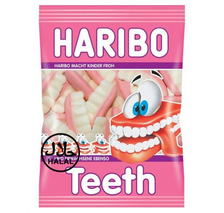 Haribo Teeth 80 g Bag 24 Per Box