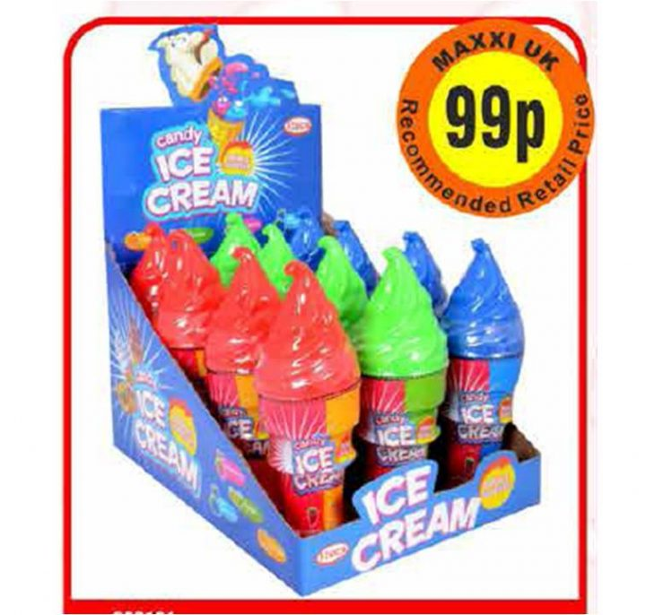 Candy Spray Ice Cream Double Squeeze 70g