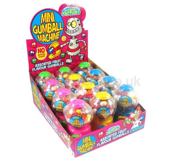 Bubble Gum Mini Gumball Machine 35g 12/Box