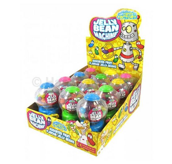 Jelly Bean Mini Gumball Machine 35g 12/Box