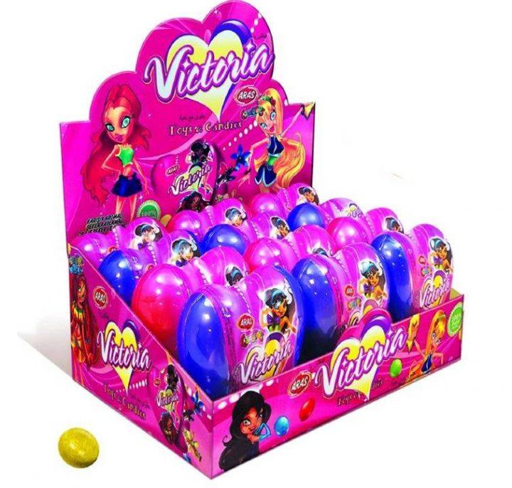 Candy Victoria Heart 12 Per Box
