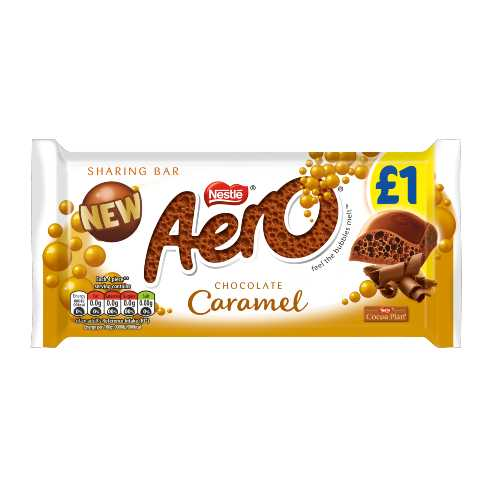 Chocolate Aero Caramel Sharing Bar 100 g X 15