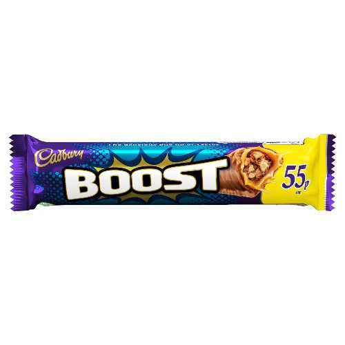 Chocolate Cadbury Boost 48.5g Standard Bar 55p