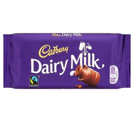 Chocolate Cadbury DairyMilk Bar 100g X 21