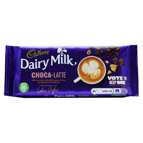Chocolate Cadbury Dairy Milk Choca-Latte Bar 122.5g X 15