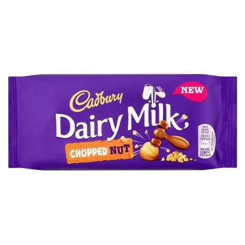 Chocolate Cadbury Dairy Milk Chopped Nut Bar 95g