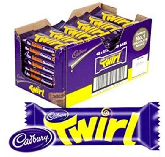 Chocolate Cadbury Twirl 43 g Standard Bar