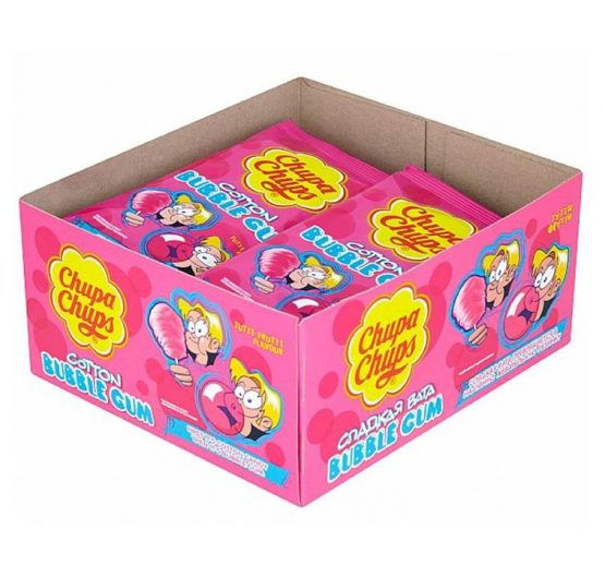 Bubble Gum Chupa Chups Cotton Tutti Fruitti 11g 12/Box
