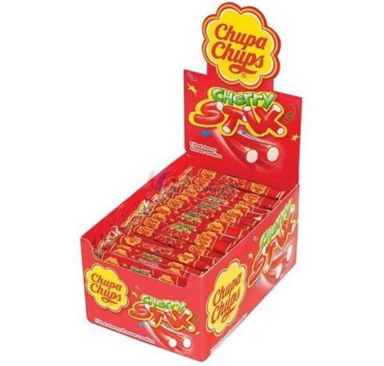 Candy Chup Chupa Cherry Stix 1500g Box