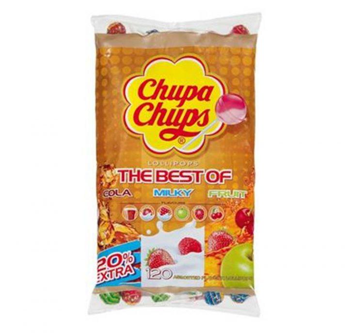 Lollipops Chupa Chups The Best Of Cola-Milky-Fruit 120/Bag