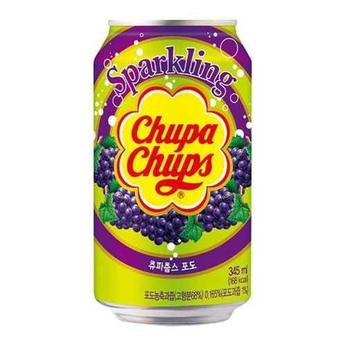 Chupa Chups Sparkling Drink Grape Flavour 345