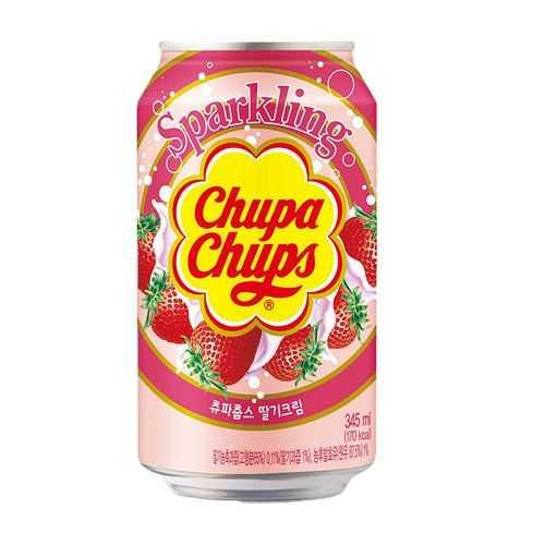 Chupa Chups Sparkling Drink Strawberry Flavour 345 ml