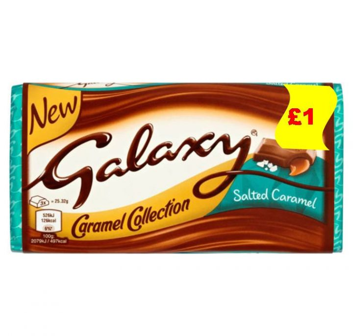 Chocolate Galaxy Salted Caramel 100g X 12