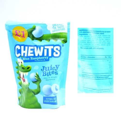 Chewits Juicy Bites Blue Raspberry145g